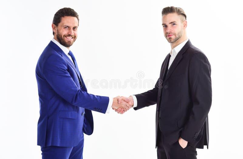 Reunião de negócio Empresa dos líderes do negócio de negócio Fusão principal Contente de encontrá-lo Obrigado para a cooperação foto de stock