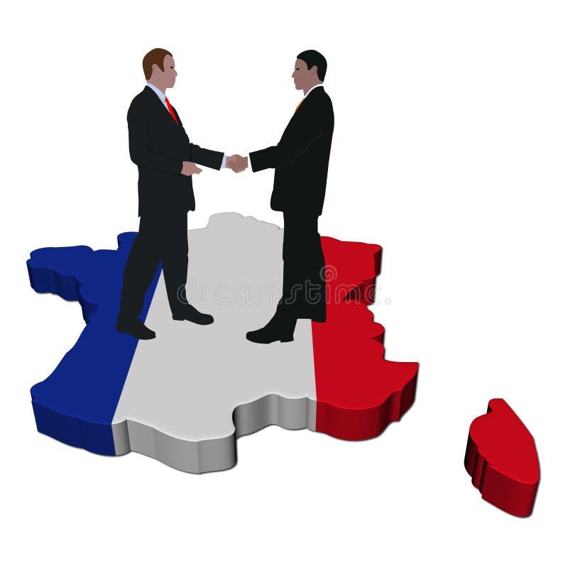 Reunião de negócio francesa ilustração royalty free