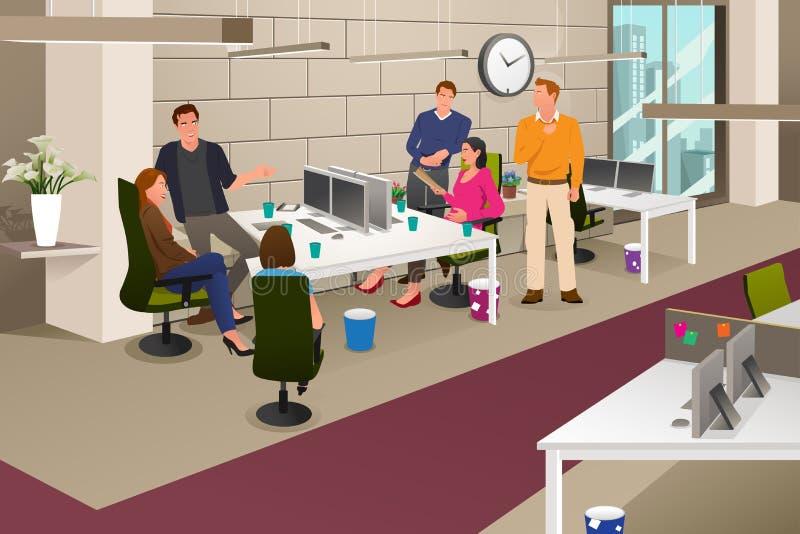 reunião de negócio informal ilustração stock