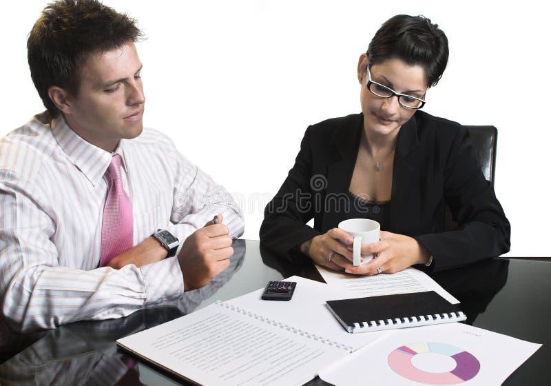 Reunião de negócio - isolada foto de stock