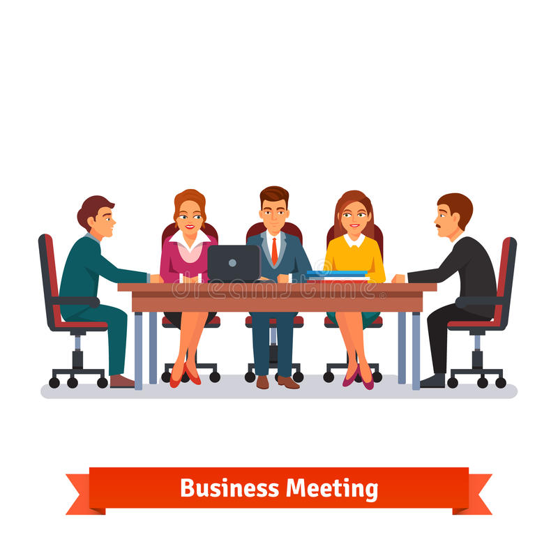 Reunião de negócios da placa dos diretores brainstorming ilustração stock