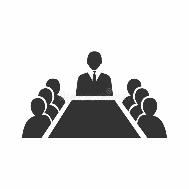 Reunião de negócios, discussão Atividade dos trabalhos de equipe Povos em torno da tabela Ilustração do vetor ilustração royalty free