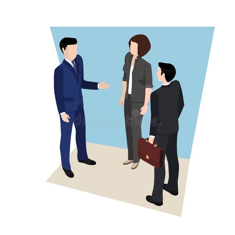 Reunião de negócios, pessoa em ternos de negócio ilustração do vetor