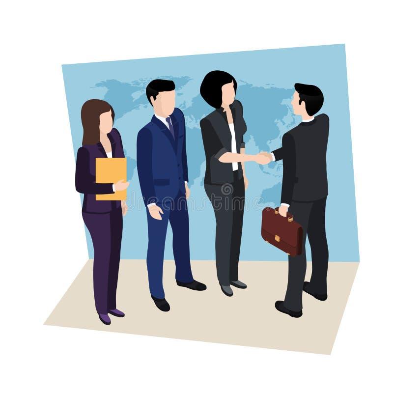 Reunião de negócios, pessoa em ternos de negócio ilustração royalty free