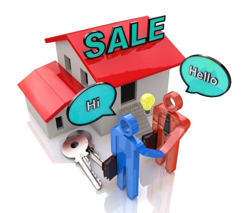 Reunião do comprador e do vendedor ilustração royalty free