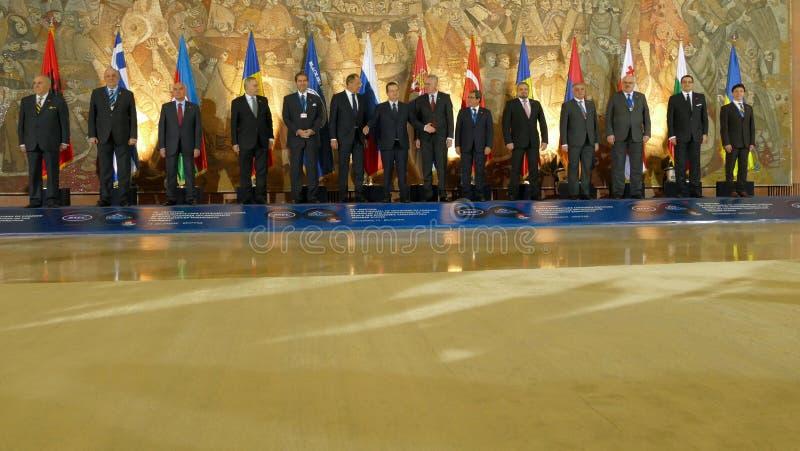 35a reunião do Conselho de Ministros dos Negócios Estrangeiros da organização do Estado-membro de cooperação econômica do Mar Neg imagens de stock