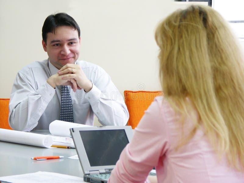 Reunião do escritório imagem de stock royalty free