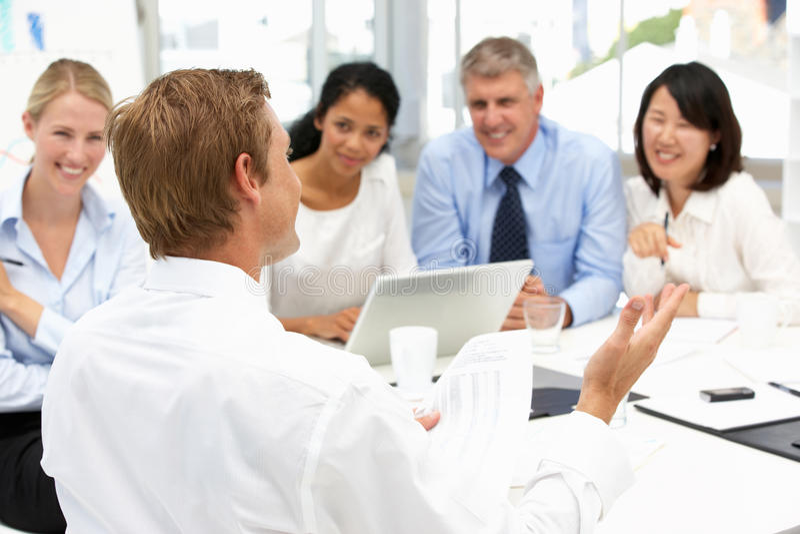 Reunião do escritório do recrutamento fotografia de stock royalty free