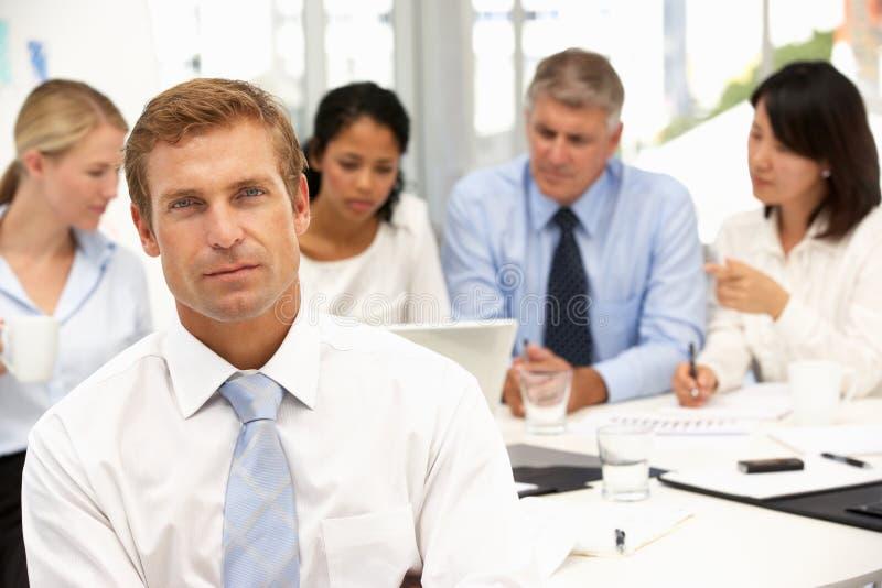 Reunião do escritório do recrutamento imagens de stock royalty free