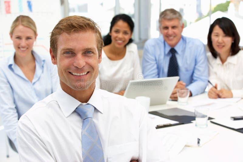 Reunião do escritório do recrutamento imagem de stock