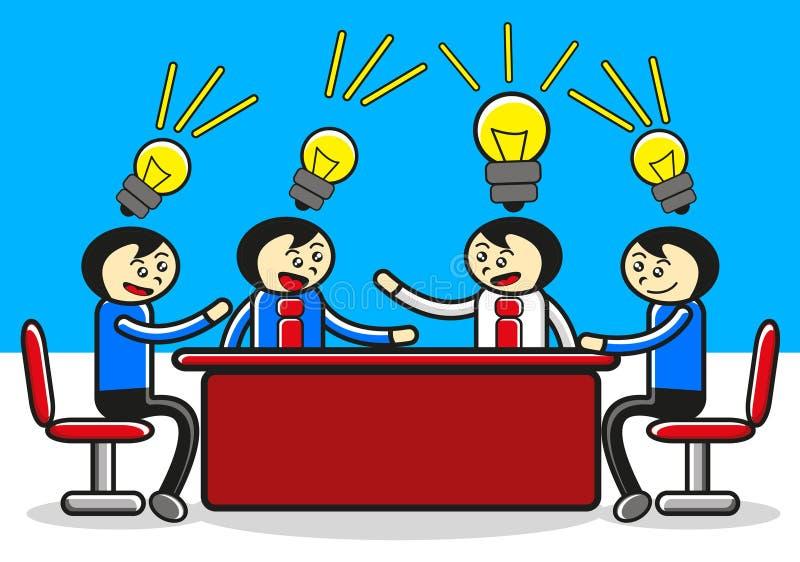Reunião do homem de negócios ilustração royalty free