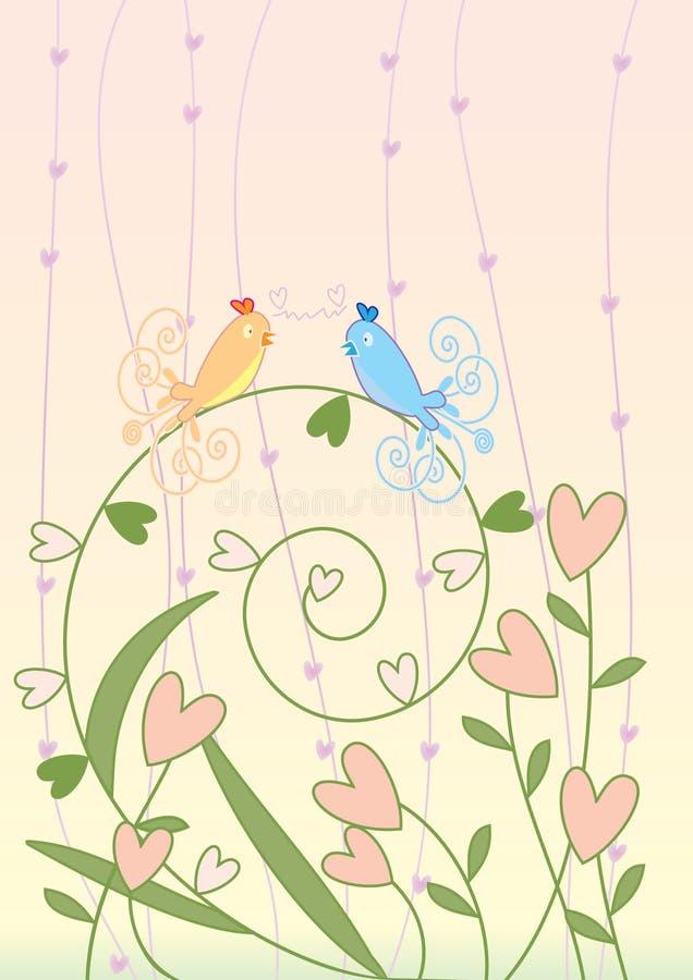 Reunião do pássaro ilustração stock
