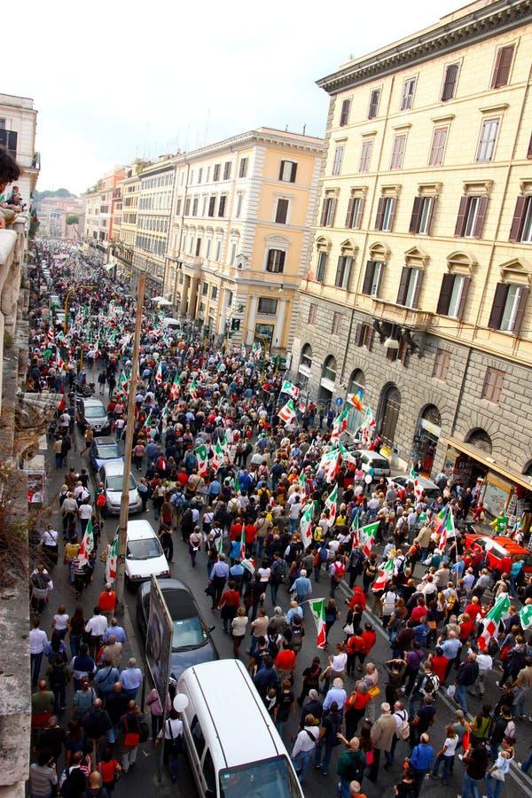 Reunião do paládio (partido Democratic) em Roma imagem de stock royalty free