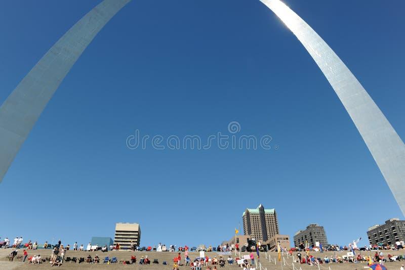 Reunião do partido de chá em St Louis Missouri imagem de stock