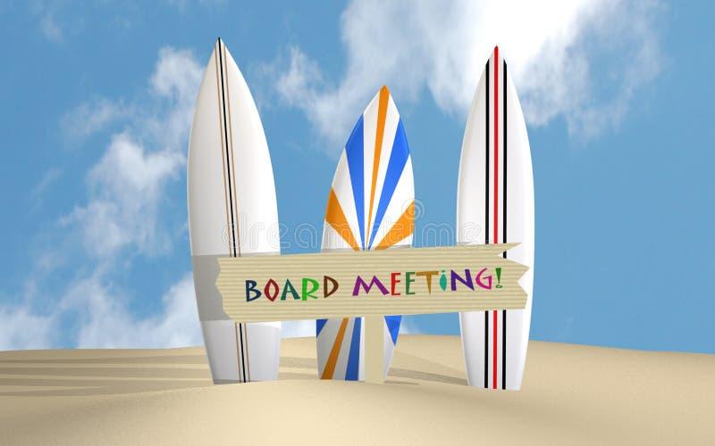Reunião do quadro ilustração stock