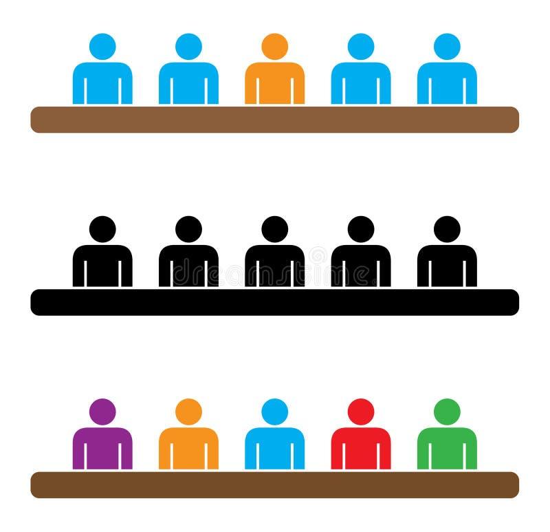 Reunião do quadro ilustração do vetor