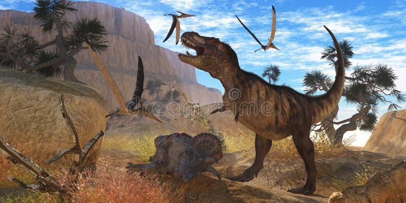 Reunião do tiranossauro ilustração do vetor