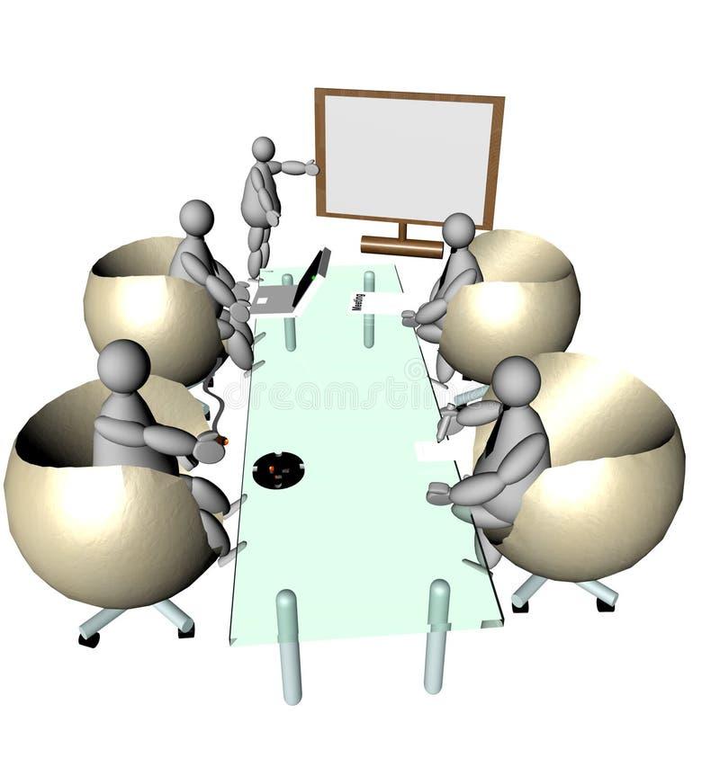 Reunião dos fantoches 3D ilustração do vetor