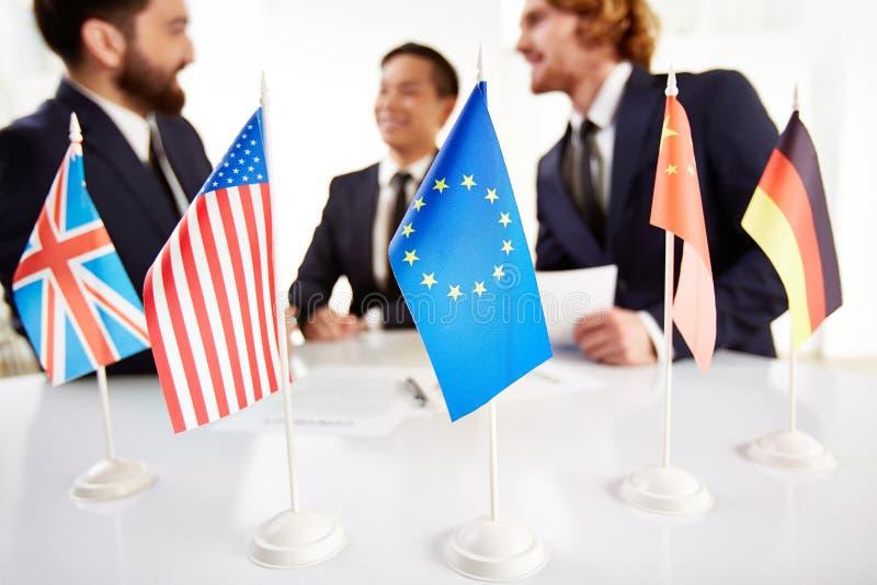 Reunião dos países foto de stock