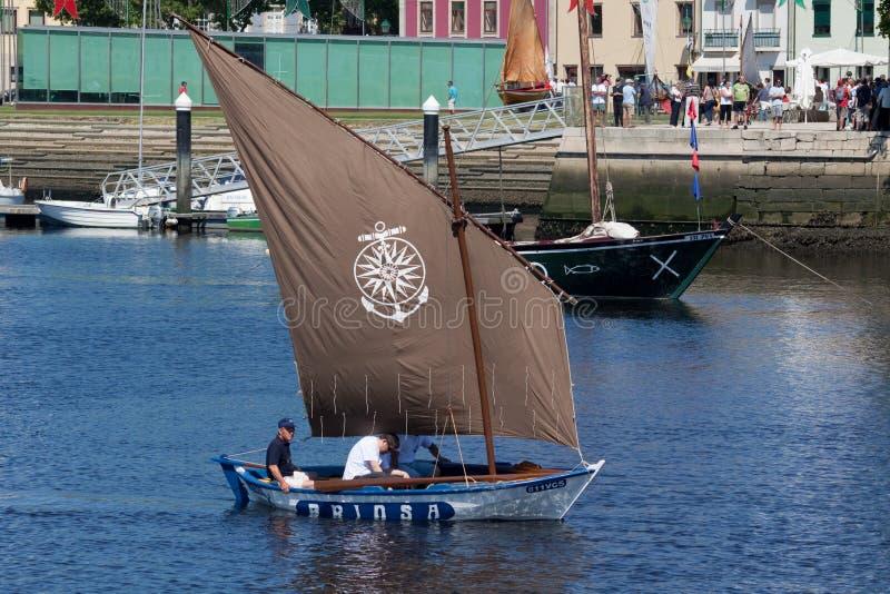 A reunião IX de barcos tradicionais de Vila faz Conde. foto de stock royalty free