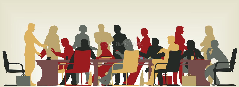 Reunião ocupada ilustração stock