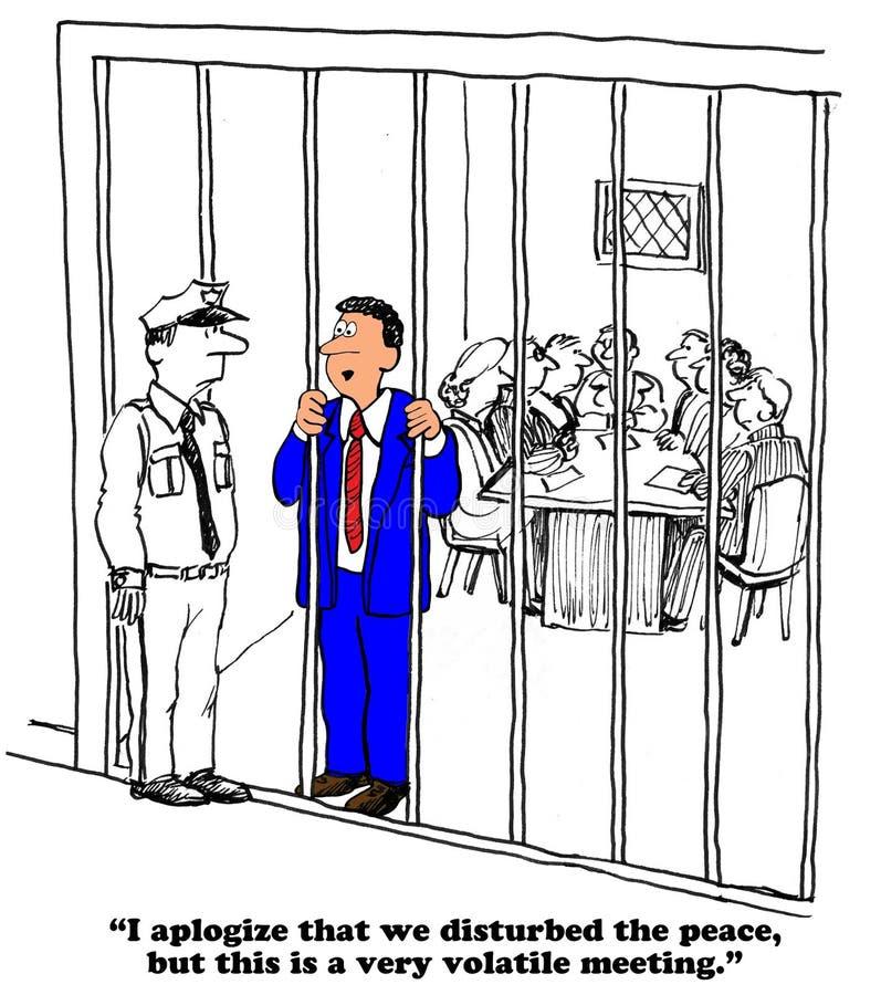 Reunião temporária ilustração do vetor