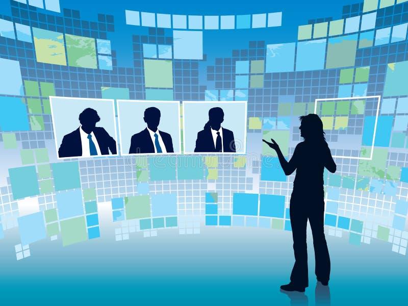 Reunião virtual ilustração stock