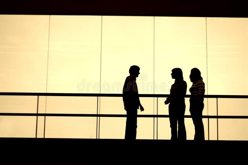 Reunión foto de archivo