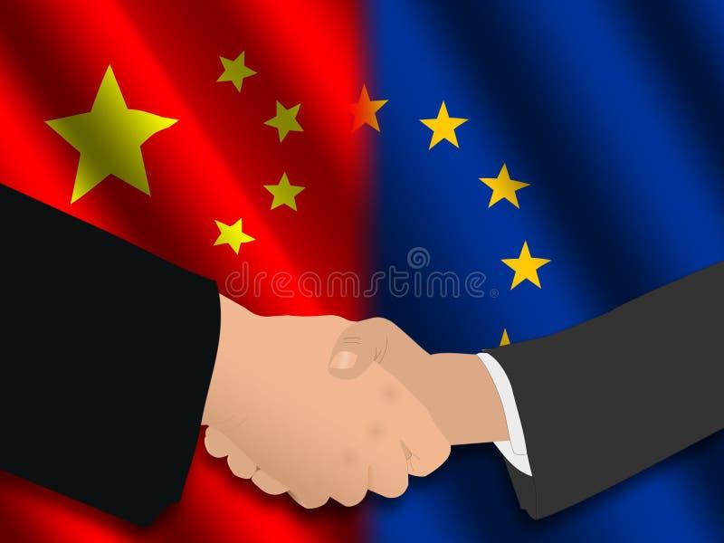 Download Reunión china de la UE stock de ilustración. Ilustración de handshake - 7283553