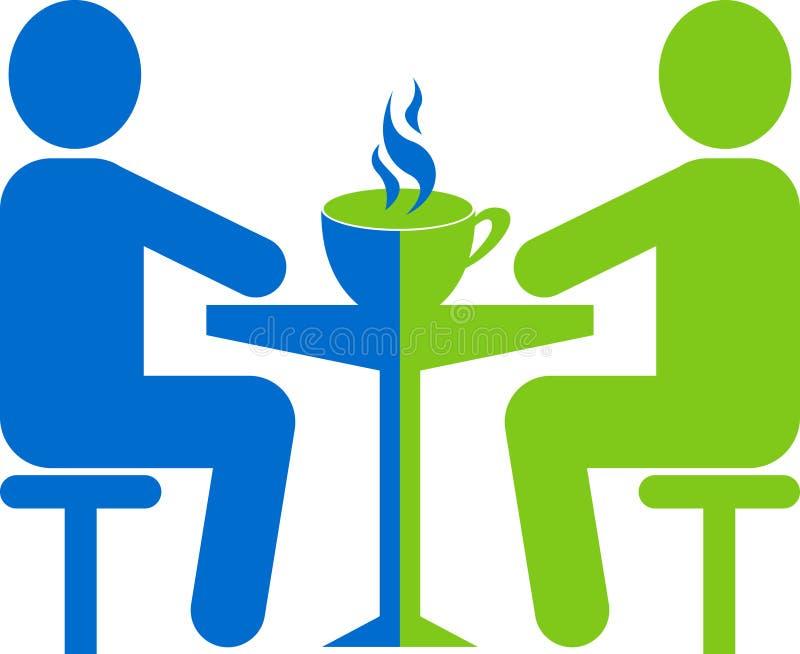 Reunión con la cafetería stock de ilustración