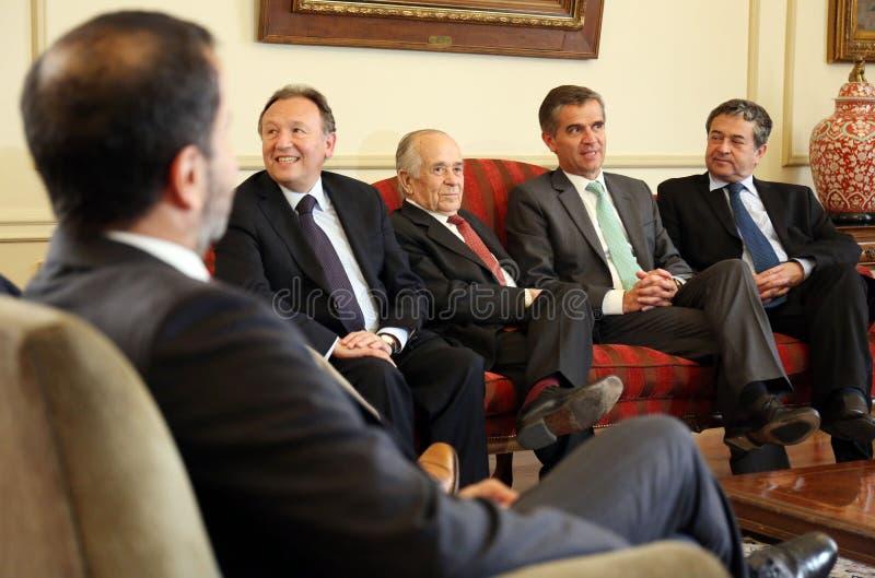 Reunión Consejo del Banco Central con la Comisión de Hacienda del Senado immagine stock