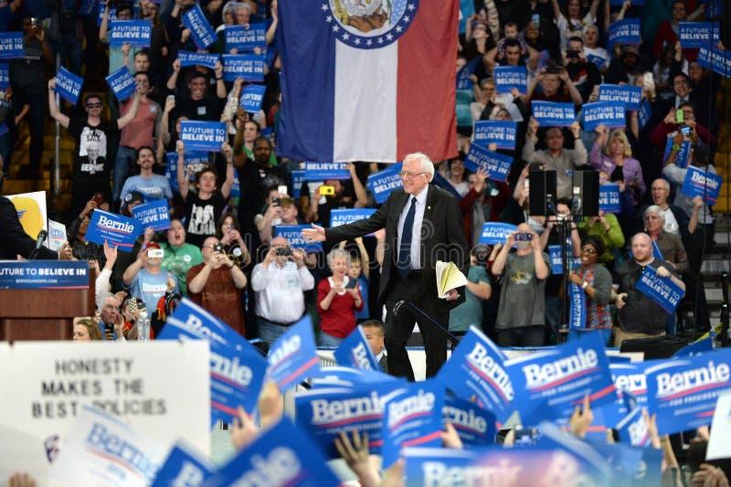 Reunión de Bernie Sanders en St Charles, Missouri fotos de archivo