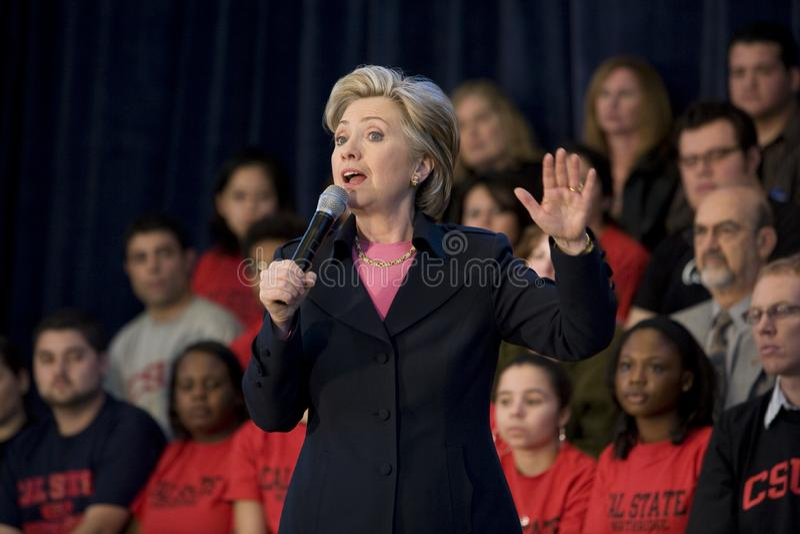 Reunión de Hillary Clinton fotografía de archivo