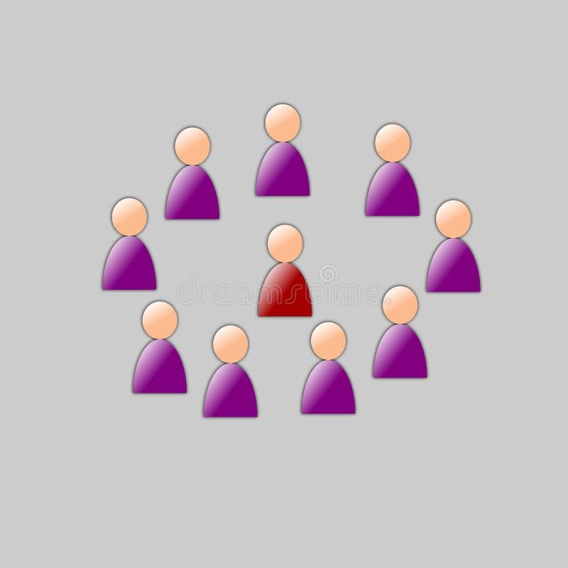 Download Reunión de la colaboración stock de ilustración. Ilustración de empleado - 7289335