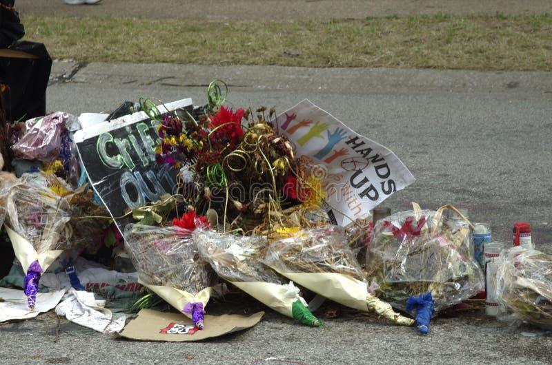 Reunión de la paz para Michael Brown imagen de archivo