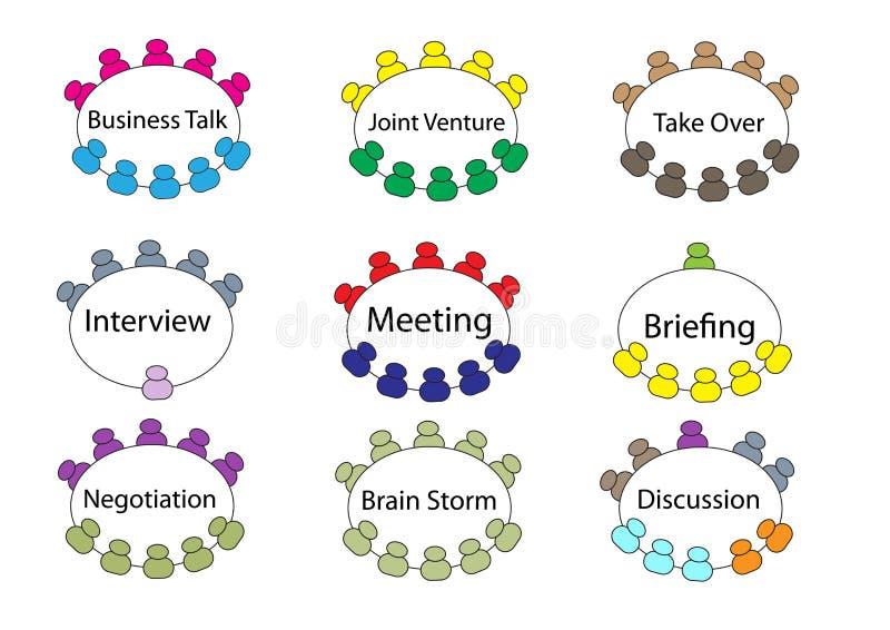 Reunión de mesa redonda del negocio ilustración del vector