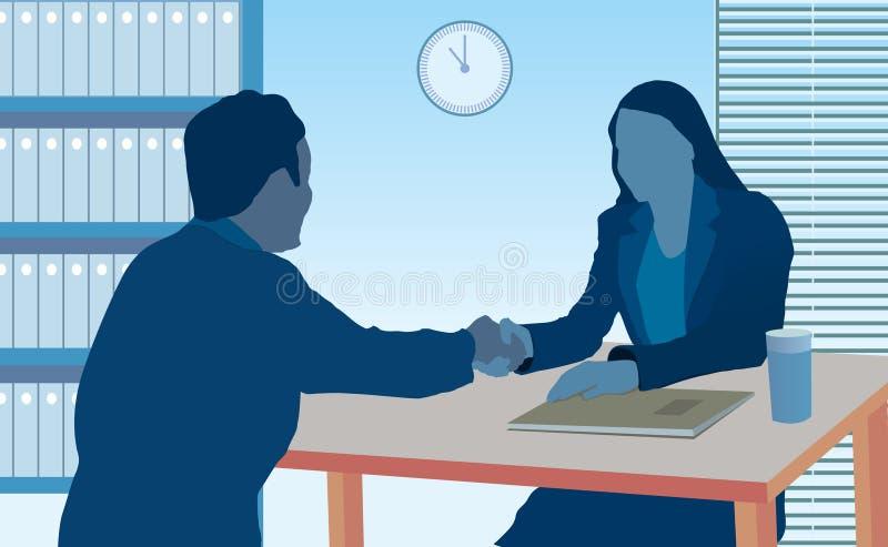 Reunión de negocios ilustración del vector