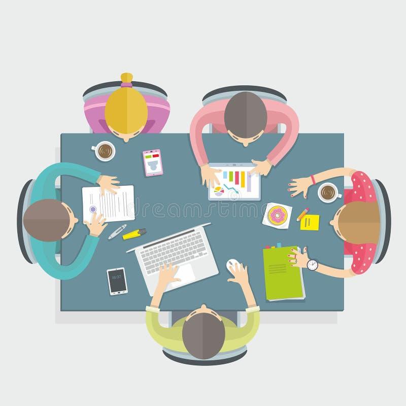 Reunión de negocios libre illustration