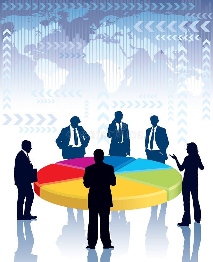 Reunión de negocios stock de ilustración