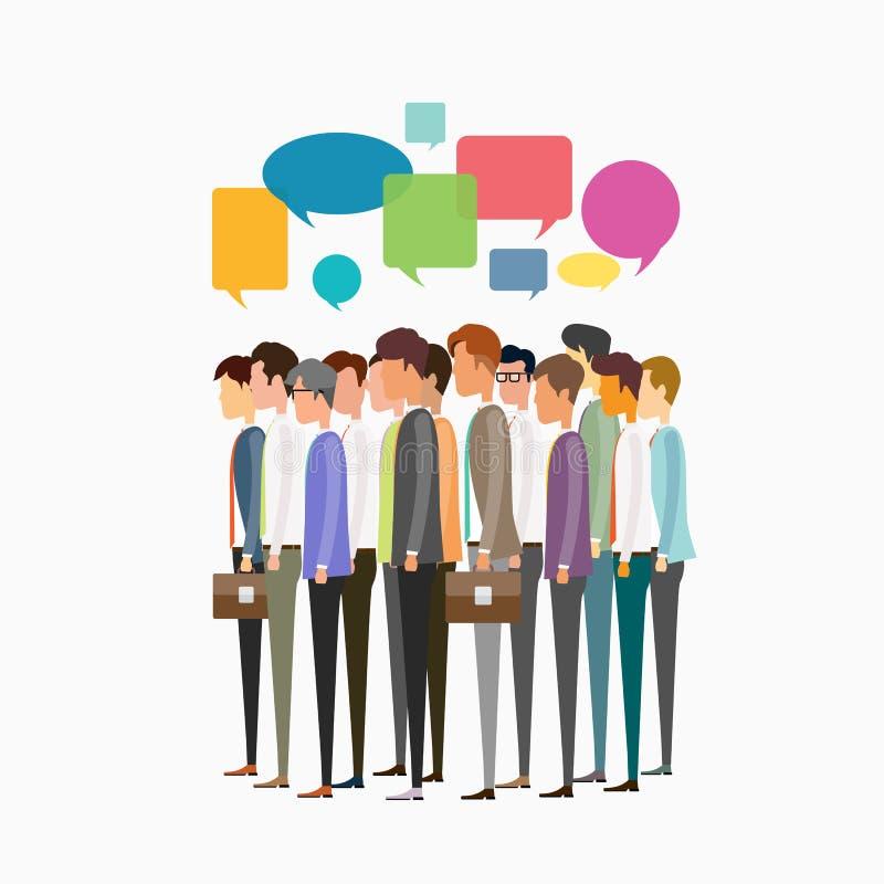 Reunión de negocios de la gente del grupo y concepto de la comunicación empresarial ilustración del vector