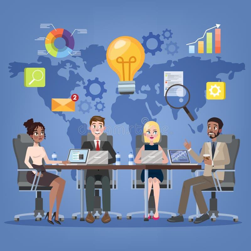 Reunión de negocios en el concepto de la sala de conferencias libre illustration
