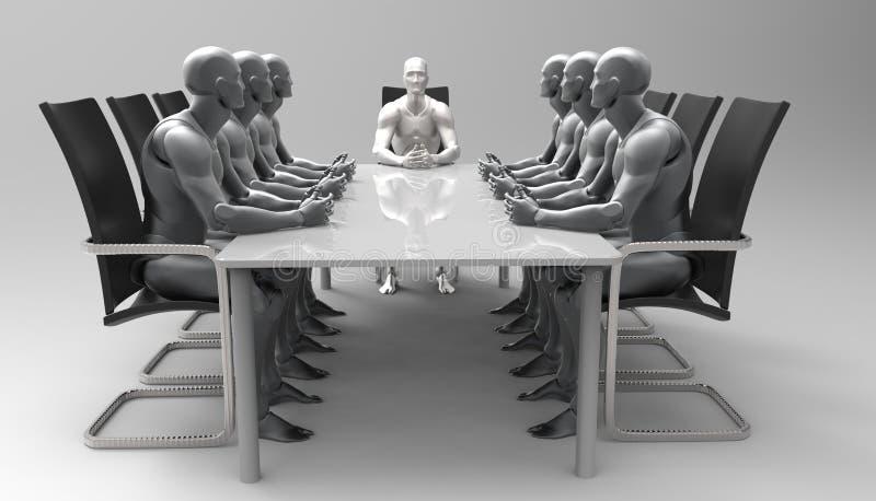 Reunión de negocios humana tridimensional libre illustration