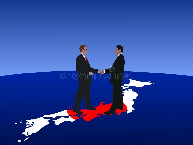 Reunión de negocios japonesa ilustración del vector