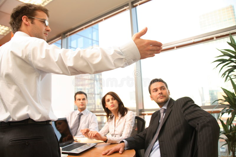 Reunión de negocios, presentación foto de archivo libre de regalías