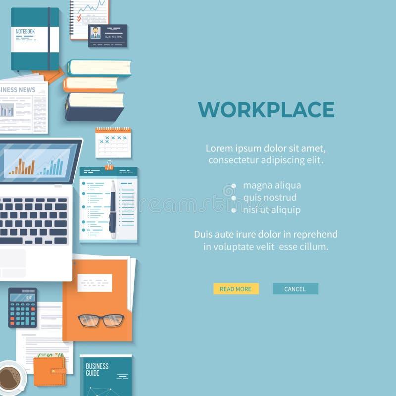 Reunión de negocios y reunión de reflexión Concepto del trabajo del equipo de la oficina Análisis, planeamiento, consultando, ges libre illustration