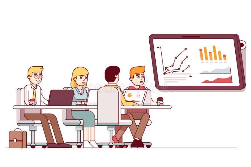 Reunión de planificación estratégica del equipo del negocio del márketing libre illustration