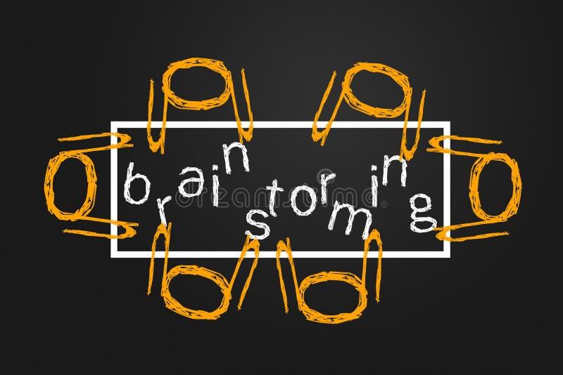 Reunión de reflexión ilustración del vector
