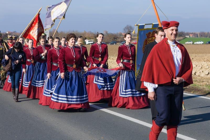 Reunión de Vukovar foto de archivo