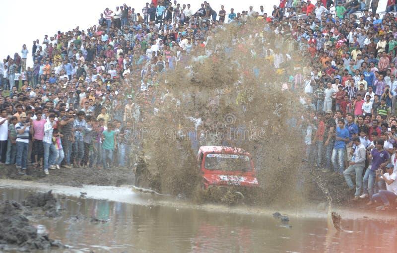 Reuni?n del coche del desaf?o del fango en Bhopal, la India foto de archivo libre de regalías