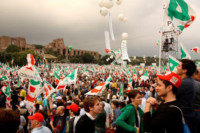 Reunión del paladio (partido Democratic) en Roma fotos de archivo libres de regalías